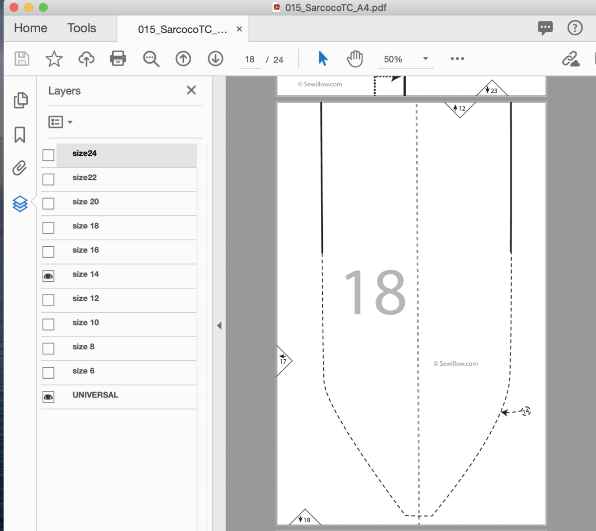 Read more about the article How to print your size only on a sewing pattern PDF